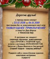 """Приглашение на """"Новогоднее приключение"""""""